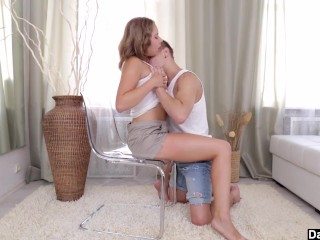 Busty babe Diana Dali fucked on chair