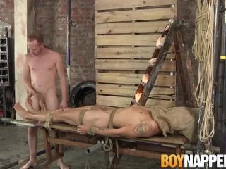 Feet licking and footjob with hot and slutty gay jocks