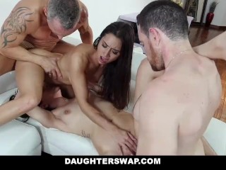 DaughterSwap – Two Dads Release Stress By Fucking Hot Daughters