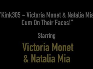 Kink305 - Victoria Monet & Natalia Mia Cum On Their Faces!