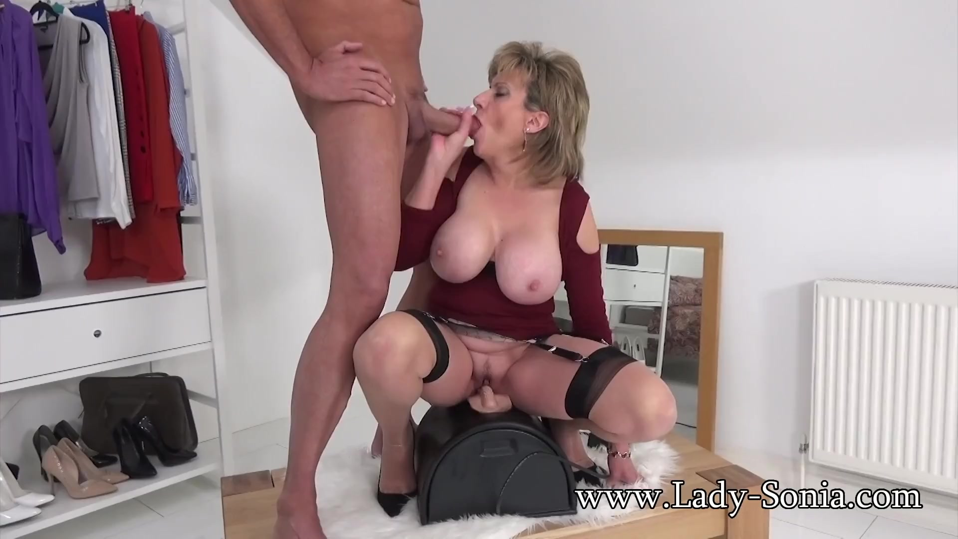 Mature riding sybian
