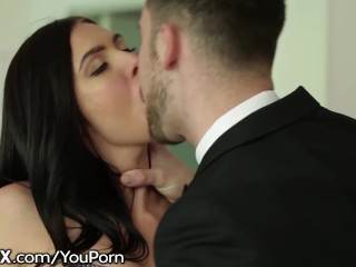 Sexy Marley Brinx In Lingerie Gets Big Dick In Ass
