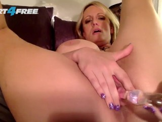 Stormy Daniels Performs an Exclusive Erotic Webcam Show on Flirt4Free