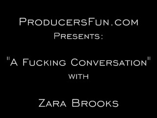 ProducersFun-Cute teen Zara Brooks gets interviewed while being fucked in