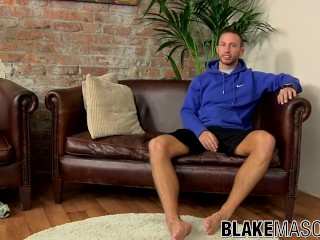 Hairy stud Brent Taylor working on his big dick solo