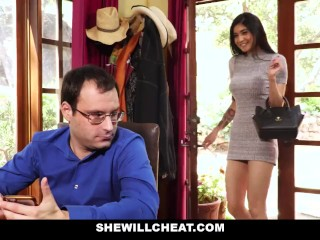 SheWillCheat - Unhappy Wife Fucks Her Boytoy In Front Of Husband