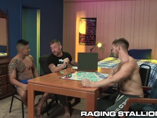 4 Cute Big Dick College Nerds Play Board Games & Fuck & DP!