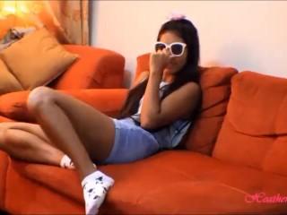 tiny thai teen oriental teen heather deep give deep throat and get huge facial on glasses