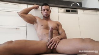 Straight Euro Officer Masturbates 8.5 Inches Of Uncut Cock On Site!