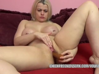 The Adult Video Experience Presents Curvy MILF Nadia White makes herself cum with a big dildo