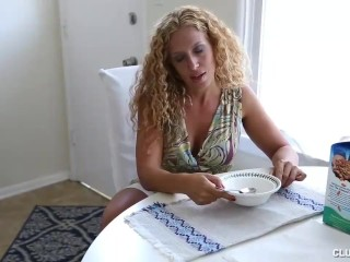 Step-mom Offers Young Guy Her Great Handjob