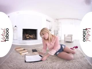 VIRTUAL TABOO - Beautiful Blonde Teen Feeding Her Pussy