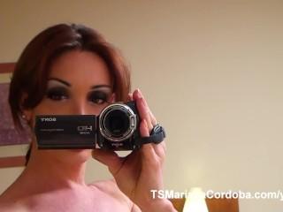POV Blowjob with Mariana Cordoba filming the cock sucker