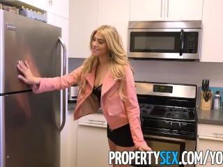 PropertySex - Curvy real estate agent fucks her client in condo