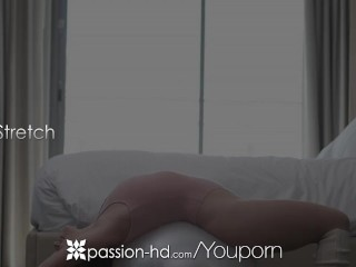 PASSION-HD Yoga interrupted massage fuck and facial with busty Lily Love