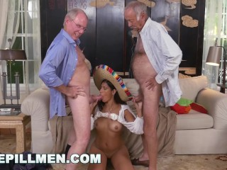 BLUE PILL MEN - Old Guys Go South Of The Border With Victoria Valencia