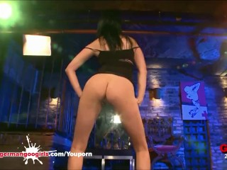 Super Hot Babe Adina Gets her Face Covered With Cum - German Goo Girls