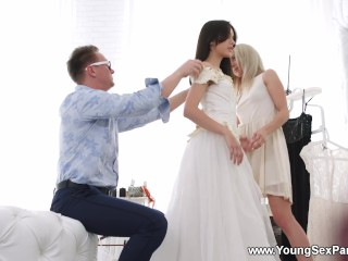 Young Sex Parties - Michelle Can - TD Bambi - Dress fitting and a threeway