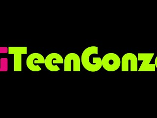 TEENGONZO Two petite teen girls licking and fingering