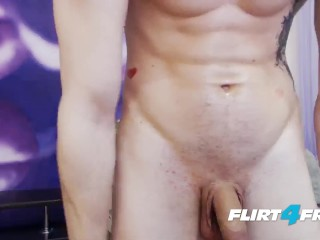 Flirt4Free Model Hayden Hardick - Ripped German Hunk Spreads His Tight Ass and Jerks His Beautiful Uncut Cock