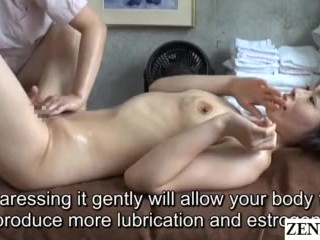 japanese CFNF lesbian therapeutic massage for married lady Subtitled