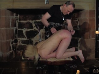 Candee and Noa intense BDSM their anal is red from the slapping