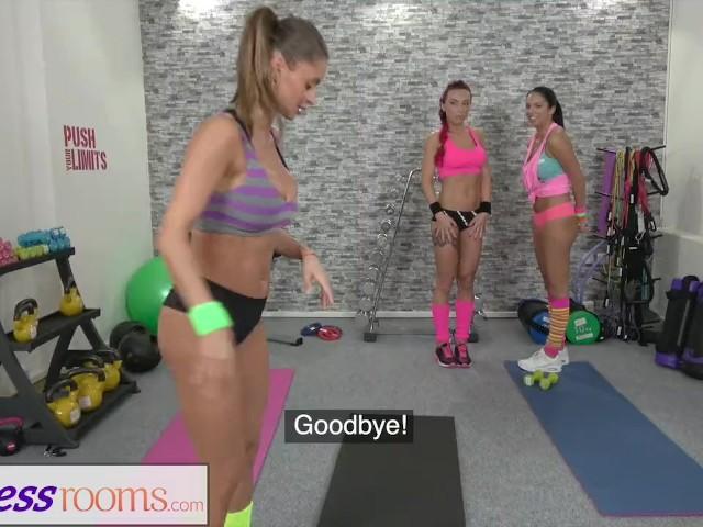 Big Tit Lesbian Workout