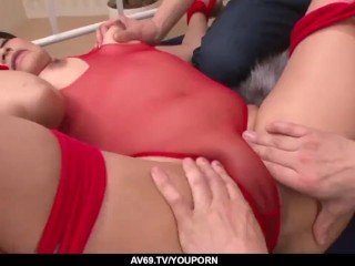 Aika Hoshino moans with a great dong in her fine pussy  - More at 69avs.com