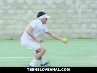 TeensLoveAnal - Lucky Student Anal Fucks Busty Tennis Coach
