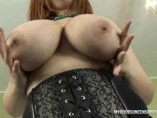 Alexsis Faye bouncing huge natural boobs and lick nipples