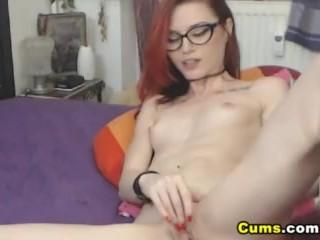 Redhead Teen Enjoys Anal Masturbation