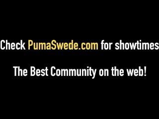 Hot Amazon Blonde Puma Swede Slapped & Super Mouth Fucked!