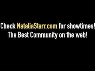 Blonde Babe Natalia Starr Dildo Fucks With Jillian Janson!