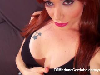 Hung Trans Mariana Cordoba shows her massive cock