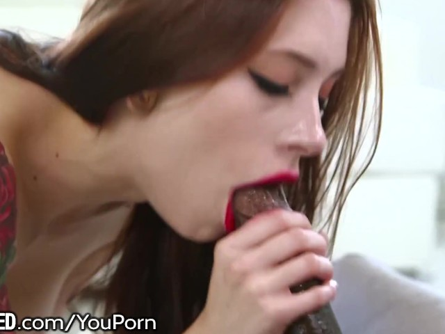 Teen Glasses Blowjob Brunette