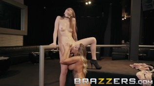 Brazzers - Alex and Cali play with a new strap on