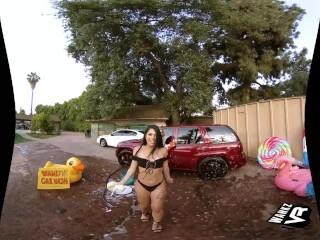 WankzVR - Car Wash ft. Kali Roses and Gina Valentina