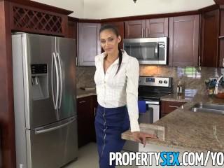 PropertySex - Dad fucks insane hot Latina real estate agent