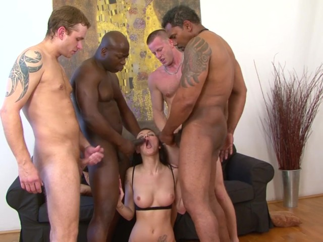 Teen Gangbang Fucked By 4 Men Hardcore And Rough Big Cocks -5925