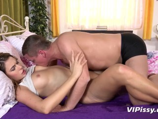 Pussy Pissing - Ani Black showers her man after steamy sex session