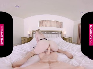 BaBeVR.com Blonde Babe Charlotte Stokely Needs De-Stress Sex