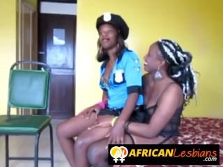 Smoking hot ebony babes dominating lesbian sex
