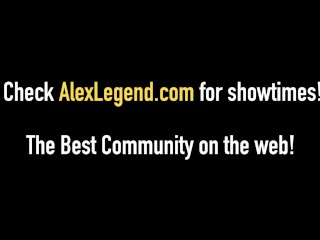 Alex Legend Cums On 4 Eyed Amarna Miller & Nickey Huntsman!
