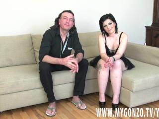 German Dieter Von Stein Reveals To Brunette Anastacia That He Does HC Porn