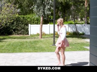 Dyked - Busty Teen Licking Shaved Pussy