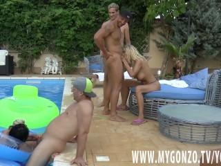Pool Gangbang With Kitty Core, Lana Vegas, Rosalina Admire, Jezzi Cat And More