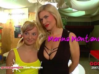 MILF brings Her Stepdaughter to A gangbang - German Goo Girls