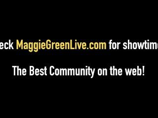 Full Figured Maggie Green Masturbates With Carey & Karen!