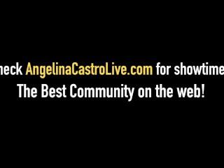 Cuban BBW Angelina Castro Sucks Big Black Cock On Her Knees!
