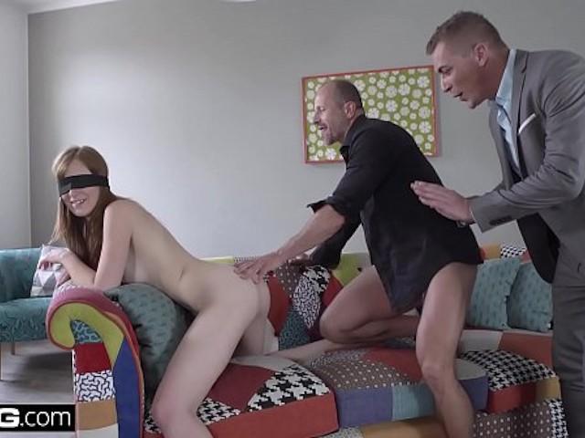 Ebony Threesome Two Men